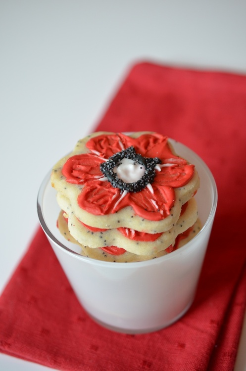 Remembrance Poppy Cookies