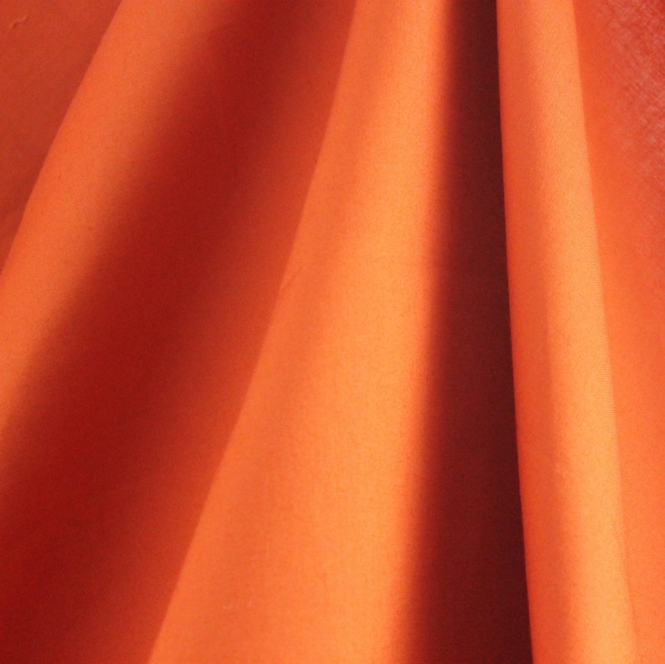 Burnt Orange Fine Organic Percale