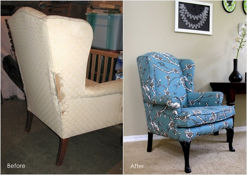 DIY: How to Reupholster a Wingback Chair