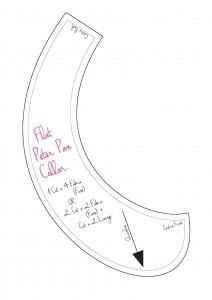 Zero waste pattern collar
