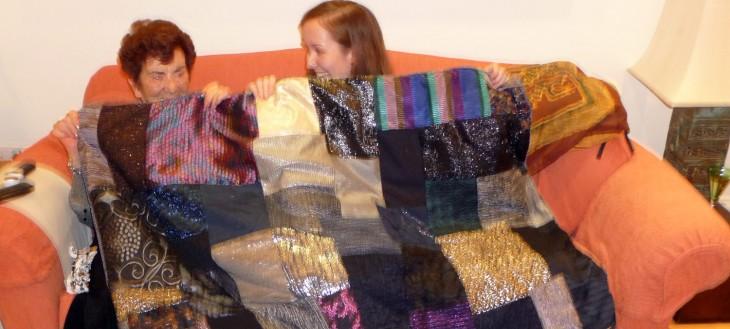 Maddie's Sparkly Patchwork Quilt!