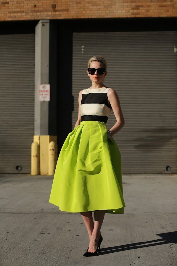 Full lime green skirt