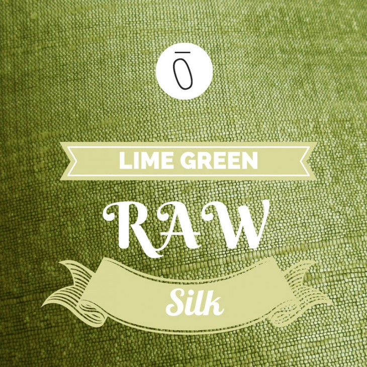 Lime Green Raw Silk | #FabricOfTheweek