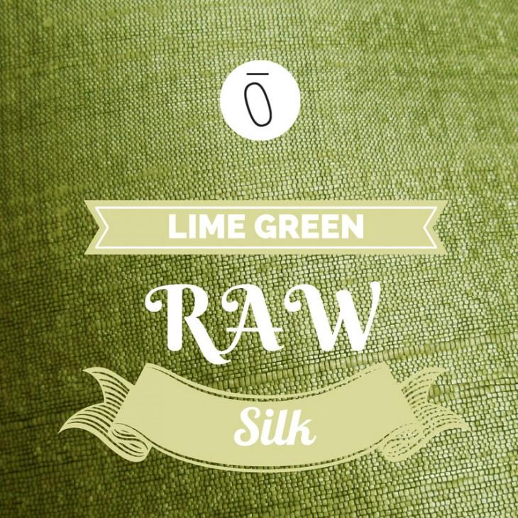 Lime Green Raw Silk   #FabricOfTheweek