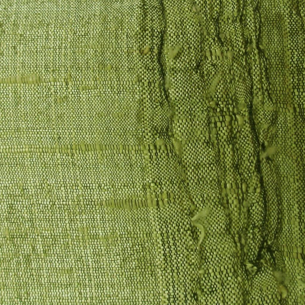 Lime Green Raw Silk