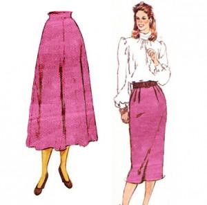 Pink Velvet Skirt Pattern