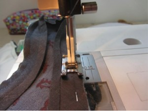 Attaching Bias Binding Dog Coat
