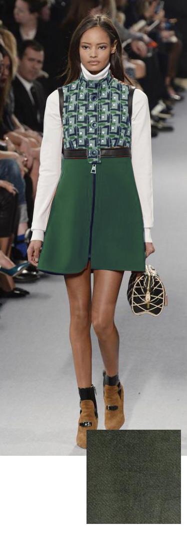 60s Green Mod Dress