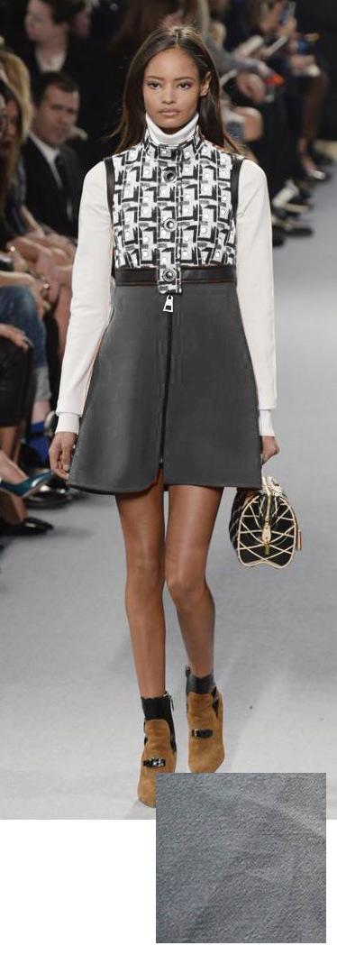 60s Grey Mod Dress