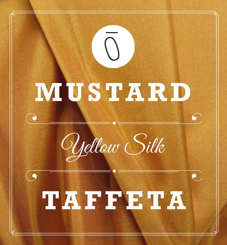 Mustard Yellow Silk Taffeta | #FabricOfTheWeek