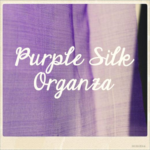 Purple Silk Organza | #FabricOfTheWeek
