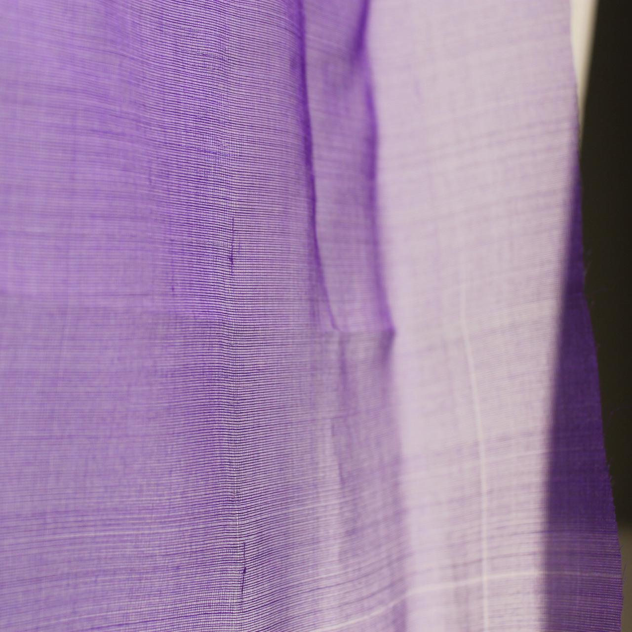 Purple Silk Organza