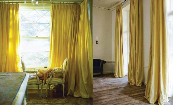 mustard yellow silk taffeta