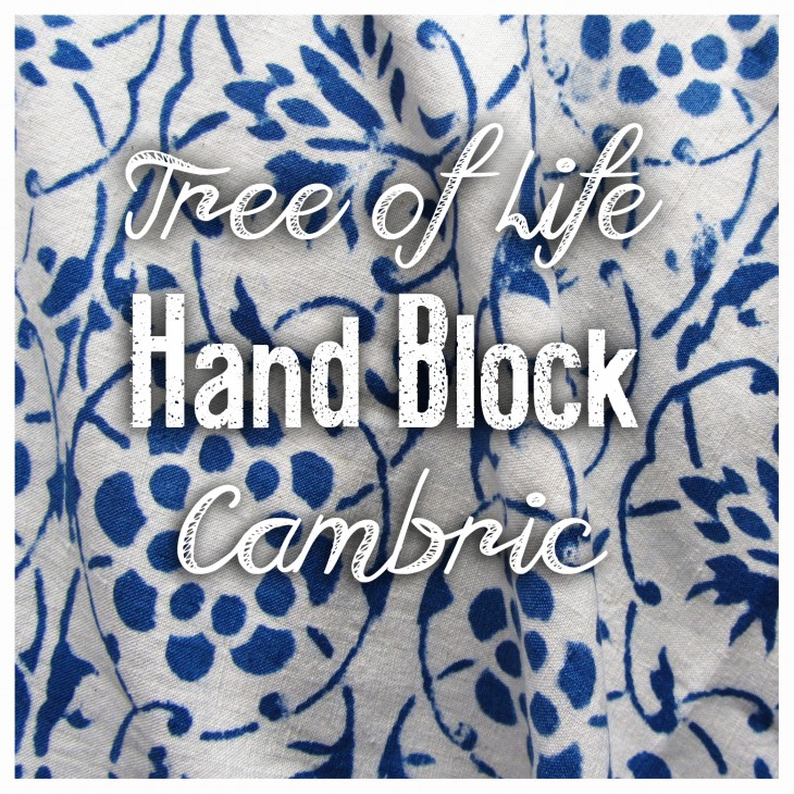Tree of Life Hand Block Cambric | Fabric Of The Week