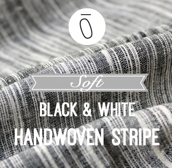 Soft Black and White Hand Woven Stripe | Fabric Of The Week