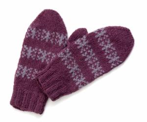 theknittermag - snowflakemittens