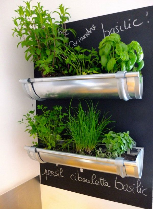 Upcycling Old Pipes Into Herb Gardens