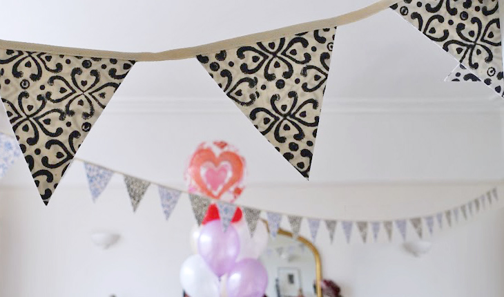 Quick way to make bunting