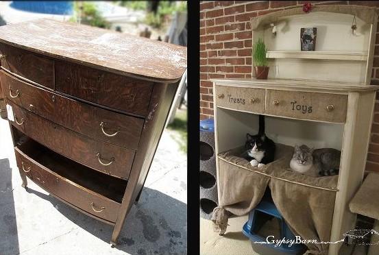 Upcycled Cat Basket