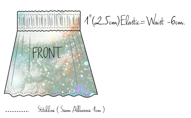 Zero waste skirt!