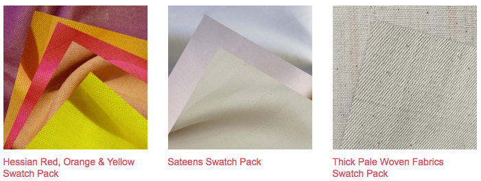 Offset Warehouse eco friendly fabric Swatch Packs