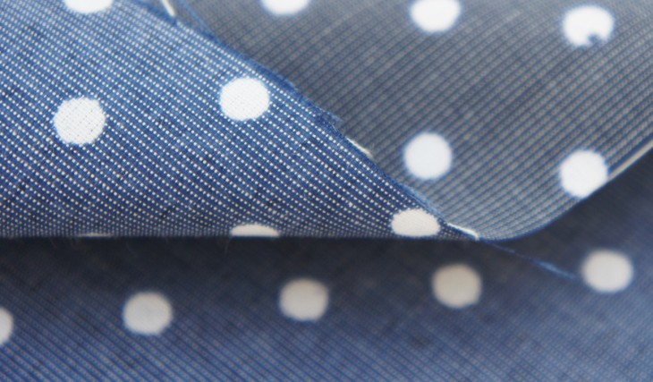 How Our Blue Reversible Polkadot Fabric Is Saving the Planet!