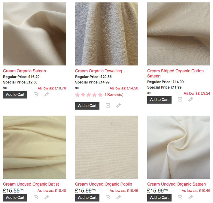 Last Chance Eco Fabric From Offset Warehouse
