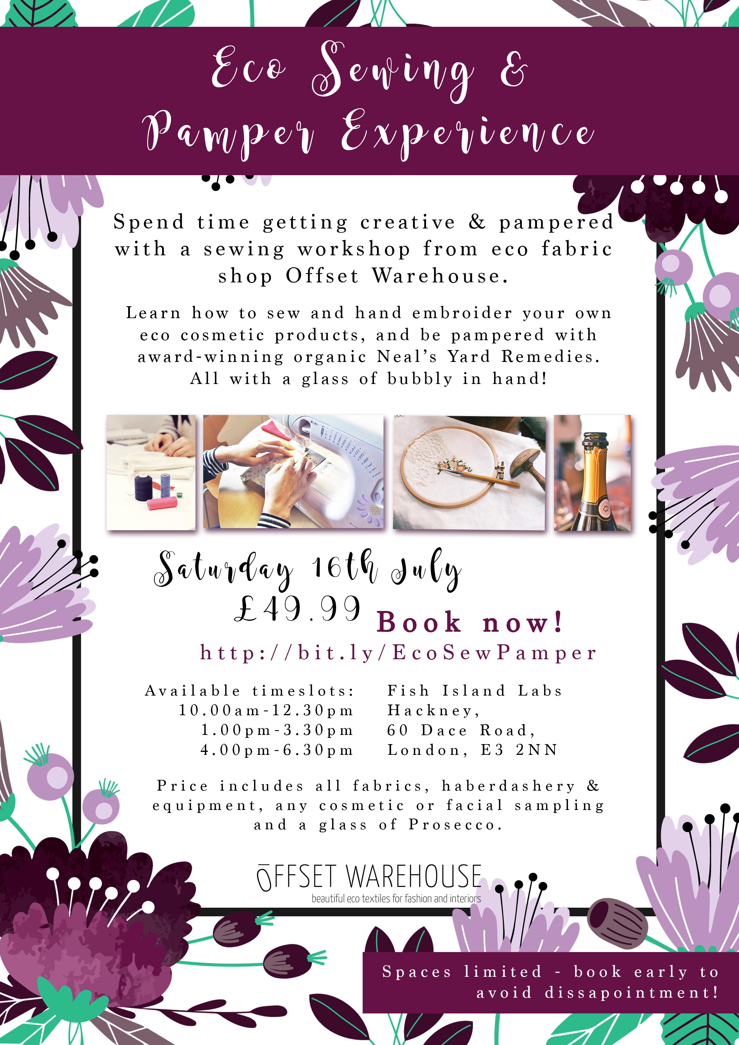 Eco Sewing & Pampering Experience