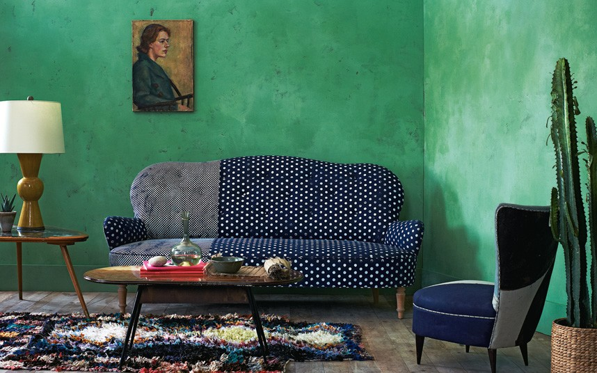 Squint and Bokja patchwork sofa